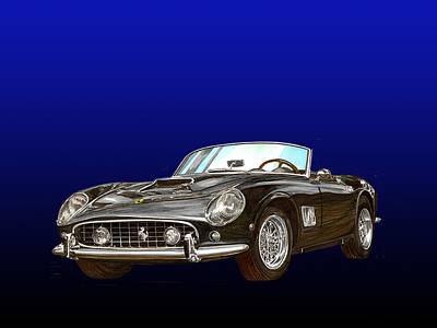 Fast Painting - 1961 Ferrari 250 G T California by Jack Pumphrey