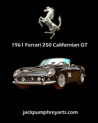 Painting - 1961 Ferrari 250 G T California by Jack Pumphrey