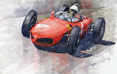 1961 Painting - 1961 Germany Gp Ferrari 156 Phil Hill by Yuriy Shevchuk