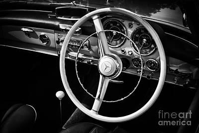 60s Photograph - 1961 Mecedes Benz 190sl Sports Tourer Interior by Tim Gainey