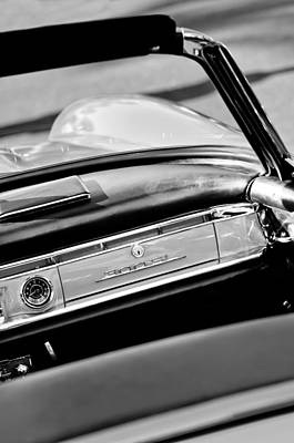 Mercedes Benz 300 Sl Classic Car Photograph - 1961 Mercedes-benz 300 Sl Roadster Dashboard Emblem by Jill Reger