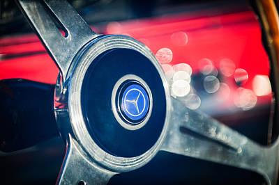 1961 Mercedes Benz 300sl Roadster Steering Wheel Emblem Art Print