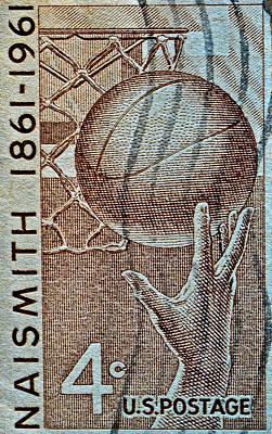 Photograph - 1961 Naismith Basketball Stamp by Bill Owen