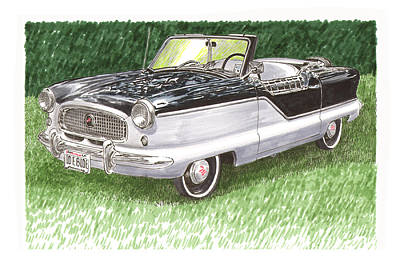 Larks Painting - 1961 Nash Metro Convertible by Jack Pumphrey