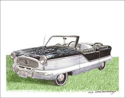 Larks Painting - 1961 Nash Metropolitian by Jack Pumphrey