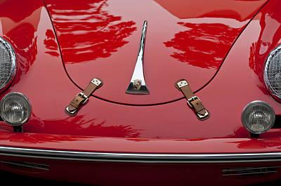 Photograph - 1961 Porsche 356 B Roadster Hood Emblem by Jill Reger