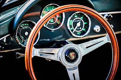 Photograph - 1961 Porsche 356 B Roadster Steering Wheel Emblem -1988c by Jill Reger