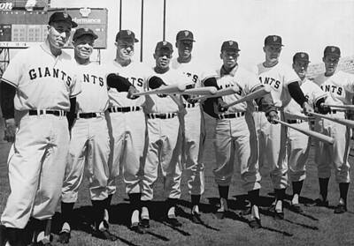 African Americans Photograph - 1961 San Francisco Giants by Underwood Archives