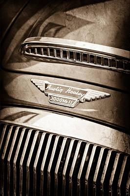 Photograph - 1962 Austin Healey 3000 Mkii Emblem by Jill Reger