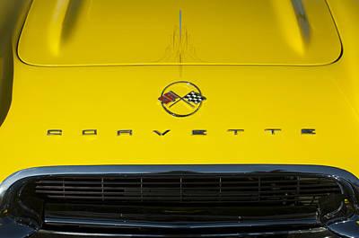 Photograph - 1962 Chevrolet Corvette Convertible Hood Emblem by Jill Reger