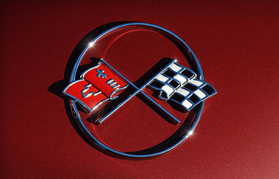 Photograph - 1962 Chevy Corvette Emblem by Gordon Dean II