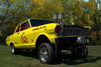 Photograph - 1964 Chevy II Gasser Dragster Obviously Insane by Tim McCullough