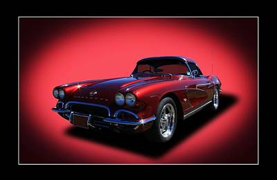 Print featuring the photograph 1962 Corvette by Keith Hawley