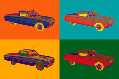 Photograph - 1962 Ford Falcon Pickup Truck Pop Art by Keith Webber Jr