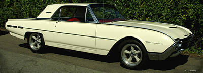 Photograph - 1962 Ford Thunderbird by James C Thomas
