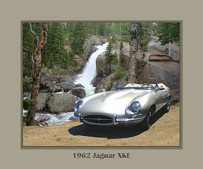 1962 Jaguar Xke Art Print by Jack Pumphrey