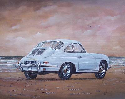 Painting - 1962 Porsche 356 Carrera 2 by Sinisa Saratlic