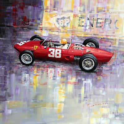 1962 Painting - 1962 Ricardo Rodriguez Ferrari 156 by Yuriy Shevchuk