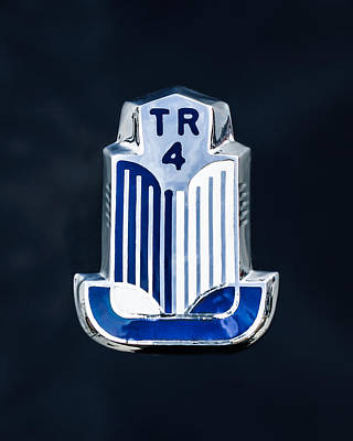 Tr Photograph - 1962 Triumph Tr-4 Taillight Emblem by Jill Reger