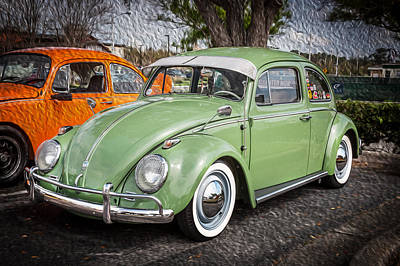 1962 Volkswagen Beetle Vw Bug  Art Print by Rich Franco