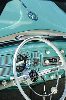 Photograph - 1962 Volkswagen Vw Beetle Cabriolet Steering Wheel by Jill Reger