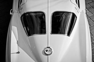 Photograph - 1963 Chevrolet Corvette Split Window -399bw by Jill Reger