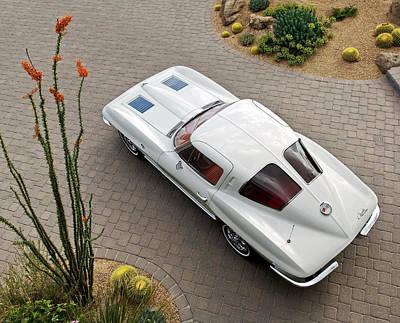 Corvette Photograph - 1963 Chevrolet Corvette Split Window -440c by Jill Reger