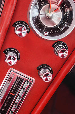 Radio Control Photograph - 1963 Chevrolet Corvette Split Window Dash -334c by Jill Reger