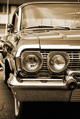Photograph - 1963 Chevrolet Impala Ss In Sepia by Gordon Dean II