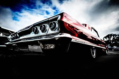 Red Chev Photograph - 1963 Chevrolet Impala Ss by motography aka Phil Clark