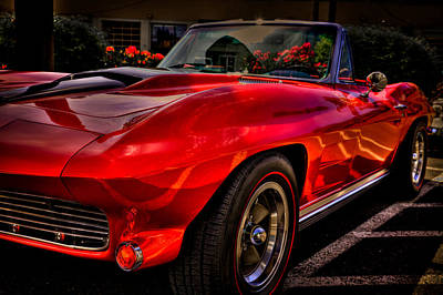 Red Street Rod Photograph - 1963 Chevy Corvette by David Patterson