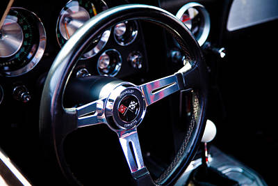 Chevy Photograph - 1963 Chevy Corvette Stingray Steering Wheel by David Patterson