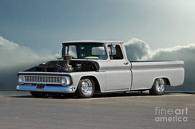 1963 Chevy 'low Rider' Pick-up Truck Art Print by Dave Koontz
