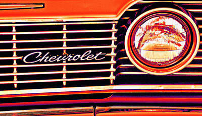 Photograph - 1963 Chevy Pop Art by Bill Owen
