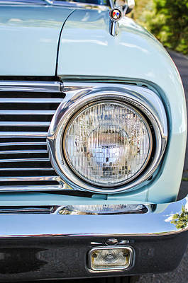 1963 Ford Falcon Futura Convertible Headlight - Hood Ornament Art Print