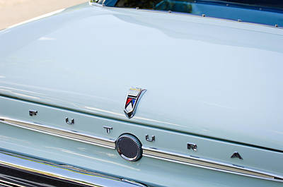 1963 Ford Photograph - 1963 Ford Falcon Futura Convertible  Rear Emblem by Jill Reger