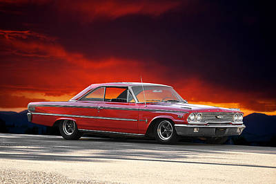 1963 Ford Galaxie 427 Art Print by Dave Koontz