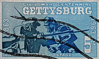 Photograph - 1963 Gettysburg Civil War Stamp by Bill Owen