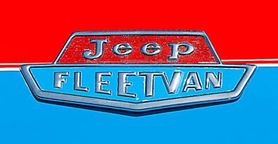 1963 Jeep Fleetwood Emblem Art Print by Jill Reger