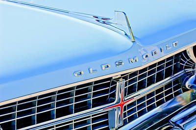 Photograph - 1963 Oldsmobile Starfire Grille Emblem by Jill Reger