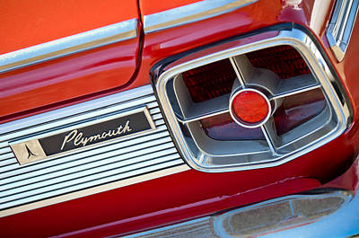 Fury Photograph - 1963 Plymouth Fury Taillight Emblem -3321c by Jill Reger