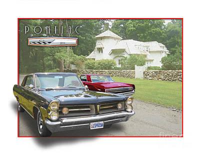 Poncho Digital Art - 1963 Pontiac Grand Prix by Dan Knowler