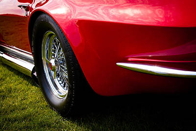 1963 Red Chevy Corvette Stingray Art Print by David Patterson