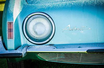 1963 Studebaker Avanti Emblem -0423c Art Print by Jill Reger