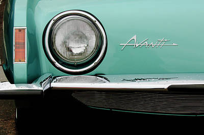 1963 Studebaker Avanti Hood Emblem Art Print by Jill Reger