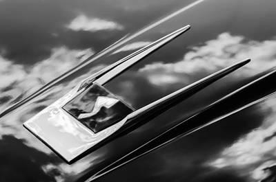 Photograph - 1963 Studebaker Avanti Logo -0152bw by Jill Reger
