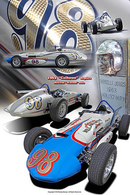 Digital Art - 1963 Agajanians Willard Battery Spl. Tribute Roadster by Ed Dooley