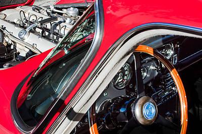Photograph - 1964 Aston Martin Engine - Steering Wheel by Jill Reger
