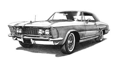 Buick Drawing - 1964 Buick Riviera by Nick Toth