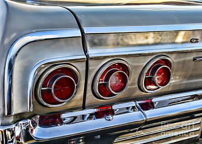 Art Dealer Photograph - 1964 Chevy Impala Tail Lights by Paul Ward